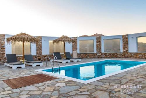 Marble art villas at Pirgos Tinos